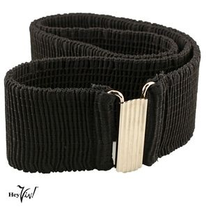 """Black Stretch Cinch Belt - 2"""" Wide - Fits 28 - 32"""""""